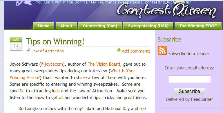 Contesttips
